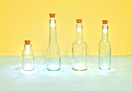 Recycle Your Glass Bottles Into Ecological And Decorative lamps-
