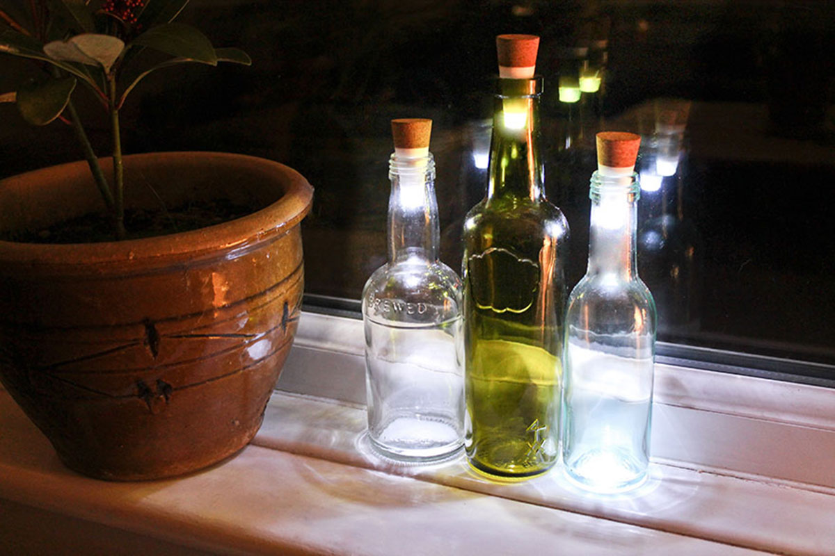 Recycle Your Glass Bottles Into Ecological And Decorative