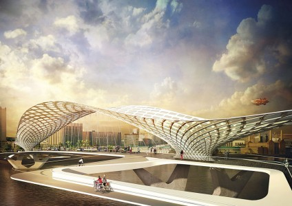 12 Most Beautiful Designs For The Planned Pedestrian Bridge In London-10