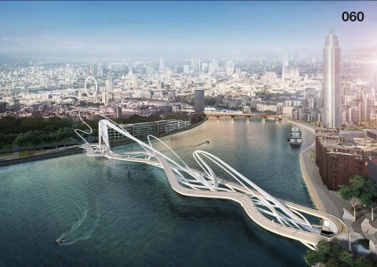12 Most Beautiful Designs For The Planned Pedestrian Bridge In London-7