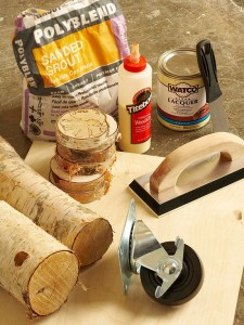 A man makes a wonderful coffee table using birch logs-