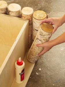 A man makes a wonderful coffee table using birch logs-3