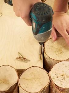 A man makes a wonderful coffee table using birch logs-5