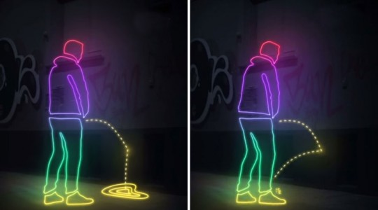 Germans Fight Urination At Public Places In An Unusual Way-1