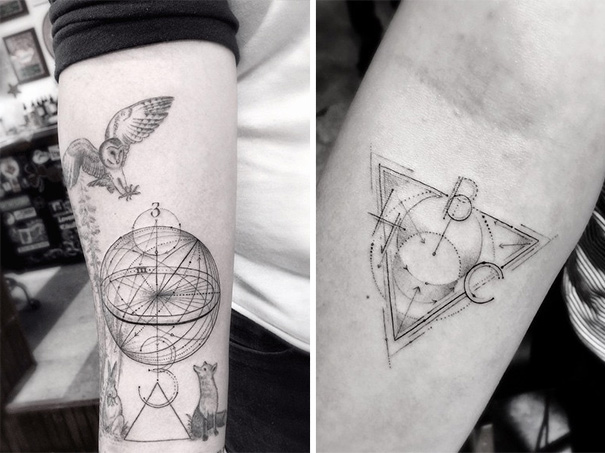 These Geometric Ink Tattoos Will Blow You Away-8