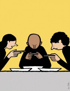 Top 15 Satirical Drawings About Addiction To Smartphones-1