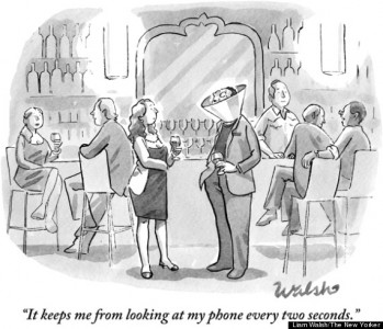 Top 15 Satirical Drawings About Addiction To Smartphones-13