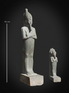 Cult artefacts found near the temple of the god Ptah at Karnak
