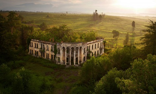 Remains of a college inside Republic of Abkhazia-21 Most Beautiful Places Photographed By Drones Where Overflight Is Illegal Today-