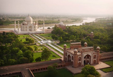 The Taj Mahal, India-21 Most Beautiful Places Photographed By Drones Where Overflight Is Illegal Today-3