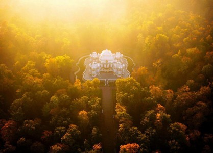 The Hermitage Pavilion, St. Petersburg, Russia-21 Most Beautiful Places Photographed By Drones Where Overflight Is Illegal Today-6