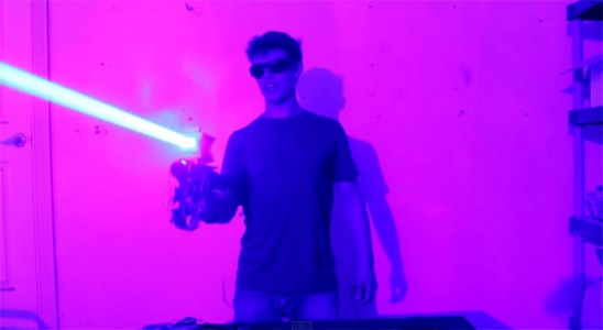 Most Powerful And Deadly DIY 'Laser Shotgun' Destroys The Household Items-