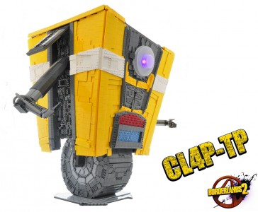 A Passionate Of Borderlands Reproduces Claptrap Robot Using Simple LEGO-