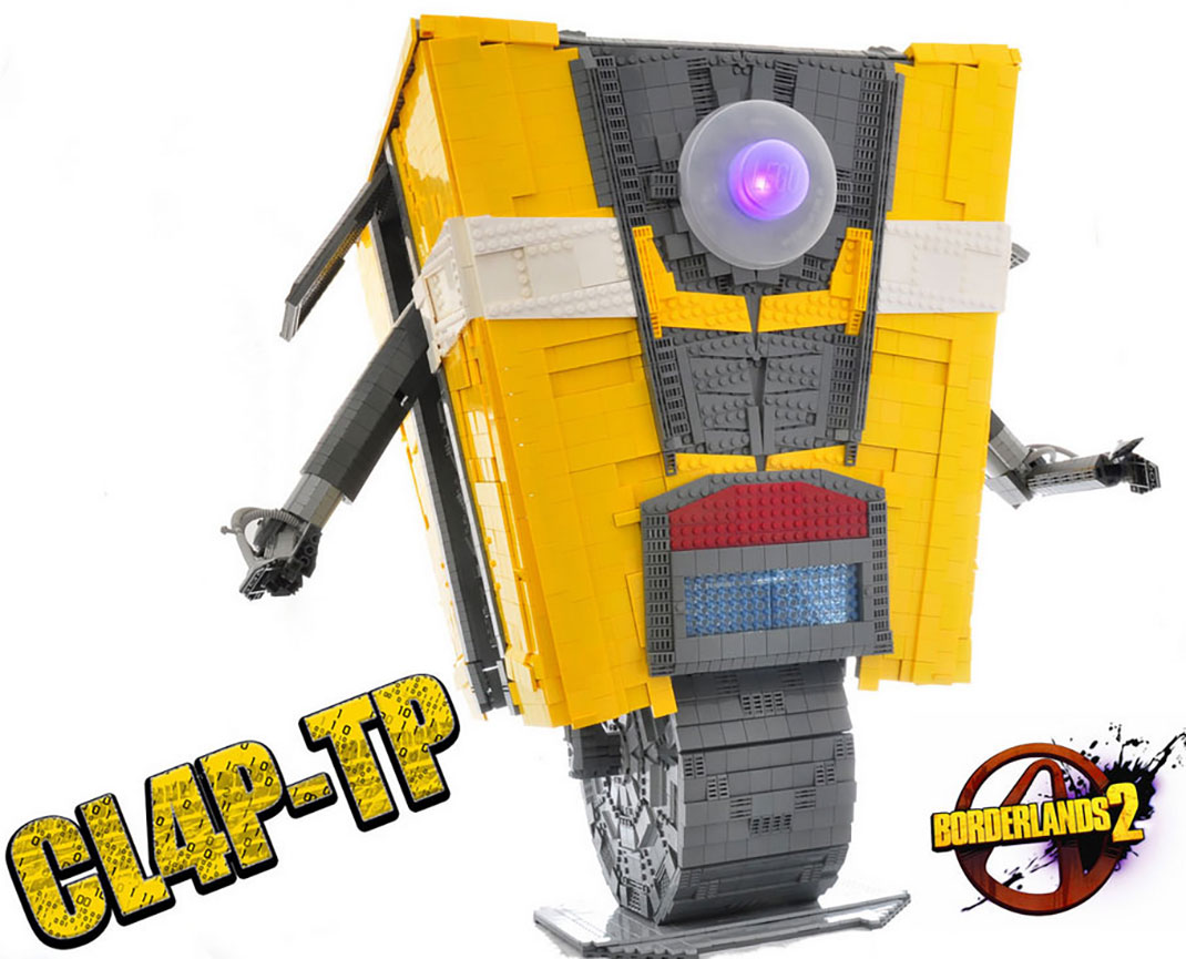 A Passionate Of Borderlands Reproduces Claptrap Robot Using Simple LEGO-4