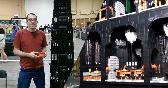 LEGO MAGIC!!! Two Meters Tall Tower Of Orthanc Saruman Built In LEGO-