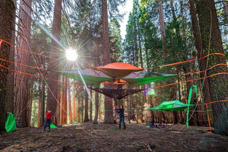 Tenstile: New Comfortable Camping Tents Are Suspended From Trees-