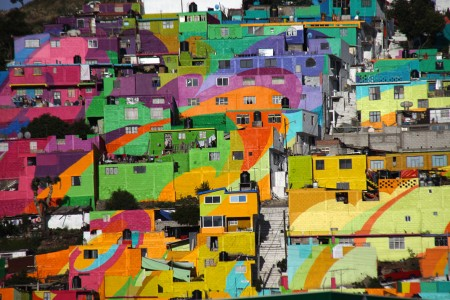To Unite The Community Against Violence Artists Paint A Mural On 200 Houses -4
