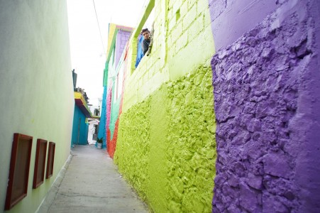 To Unite The Community Against Violence Artists Paint A Mural On 200 Houses -8
