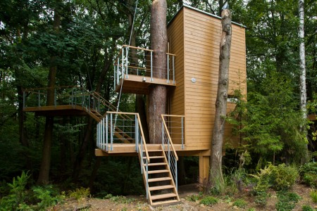 12 Green Tree Houses Built Around The Trees Without Cutting Them-13