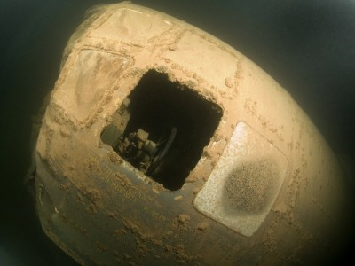 Amazing Pictures of World War 2 Bomber At Bottom Of Nevada Lake-7