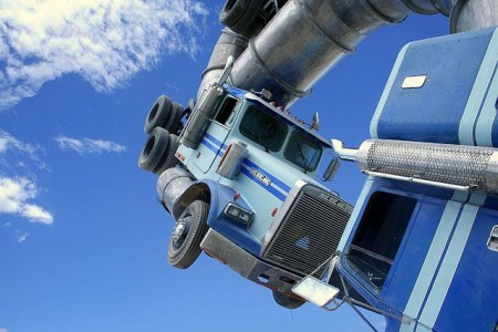 Big Rig Jig: This Monsterous Sculpture Is Made From Two Old Tanker Trucks-5