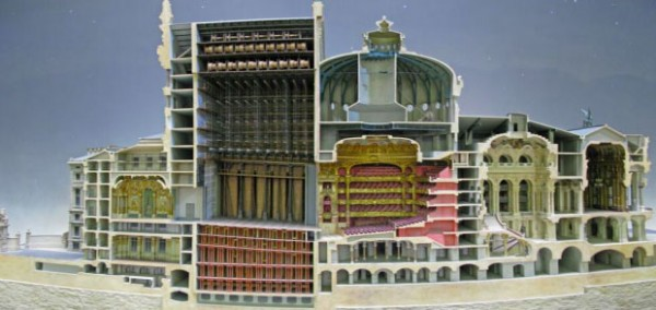 The Opera Garnier in Paris-Discover Amazing Cross-section View Of 22 Everyday Objects Cut In Half-11