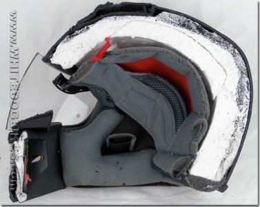 A motorcycle helmet-Discover Amazing Cross-section View Of 22 Everyday Objects Cut In Half-3