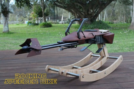 Geek Father Makes A Star War Speeder Bike Model As A Gift On Her Daughter's First Birthday-2