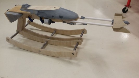 Geek Father Makes A Star War Speeder Bike Model As A Gift On Her Daughter's First Birthday-5