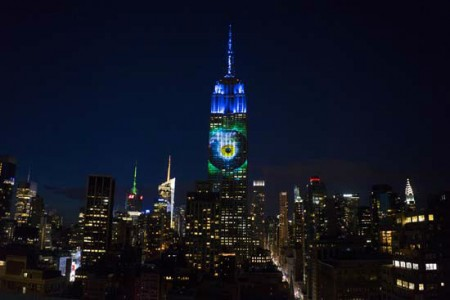 Photos Of Endangered Animals Projected On Empire State Building To Raise Awareness-3
