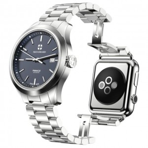 Pinnacle Combines A Classic Luxury Watch With an Apple Watch On Flip Side-