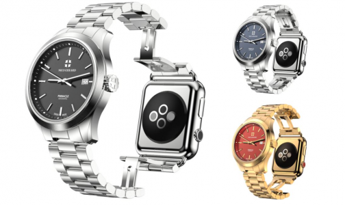 Pinnacle Combines A Classic Luxury Watch With an Apple Watch On Flip Side-2