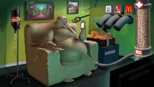 Satirical Illustrations Denounce The Sad Realities Of Our World-11