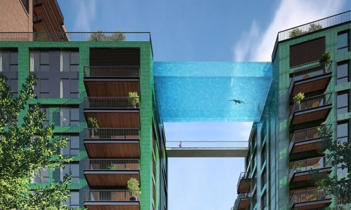 This 115 Feet High All Glass Swimming Pool Would Surely Make You Tremble-