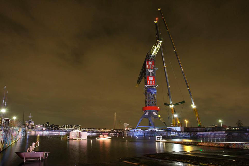 This Amazing Luxury Hotel In Amsterdam Was Built In A Dockside crane-1