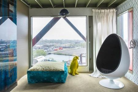 This Amazing Luxury Hotel In Amsterdam Was Built In A Dockside crane-3