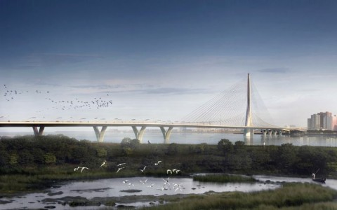 World's Largest Asymmetrical Single Tower Suspension Bridge To Be made In Taipei, Taiwan-6