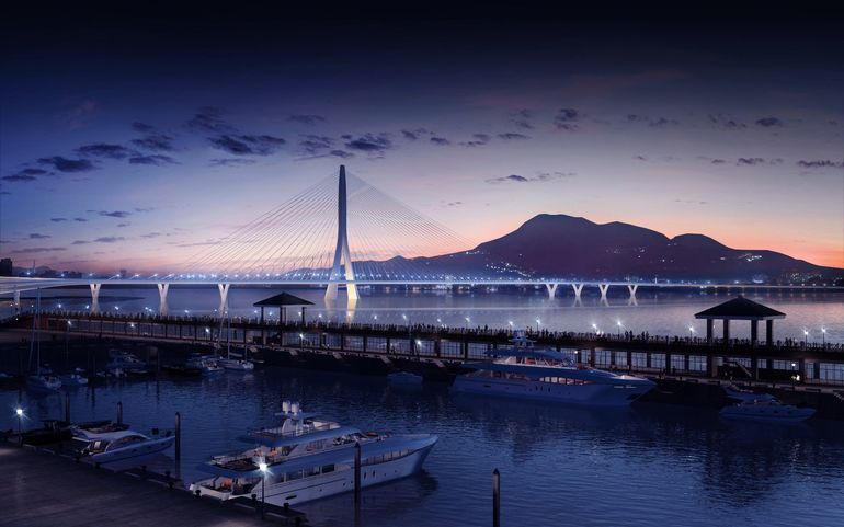 World's Largest Asymmetrical Single Tower Suspension Bridge To Be made In Taipei, Taiwan-7