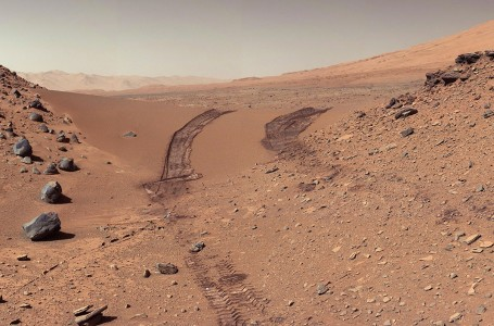 A photo of Mars taken by Curiosity