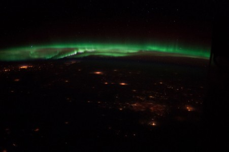 The Northern Lights seen from space