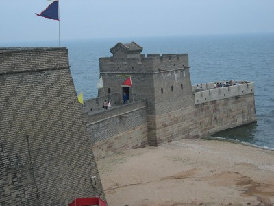 Laolongtou, the end point of the Great Wall of China