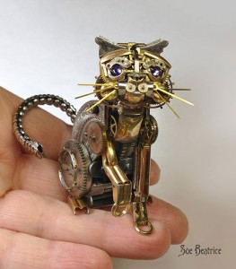 Amazing Life Like Sculptures Made From The Old Watch Parts-11