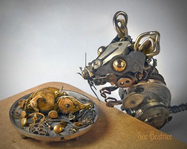 Amazing Life Like Sculptures Made From The Old Watch Parts-4