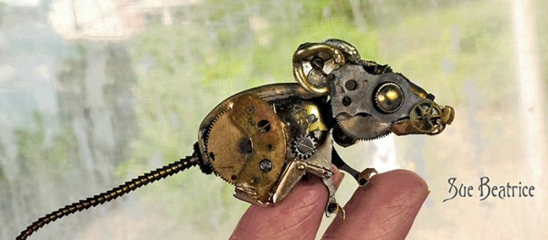 Amazing Life Like Sculptures Made From The Old Watch Parts-6