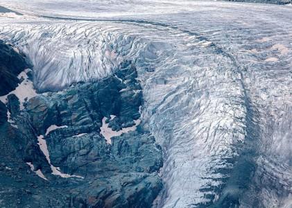 Gorner glacier above Zermatt, Switzerland