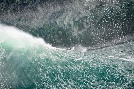 "Above the ""most dangerous wave"" of Australia, Sydney"