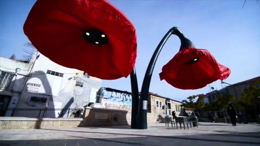 Warde: These Gigantic Streetlights Shaped As Flowers Bloom When Someone Passes Nearby-17