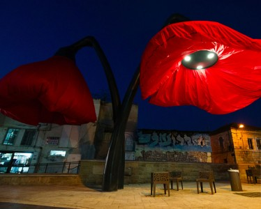 Warde: These Gigantic Streetlights Shaped As Flowers Bloom When Someone Passes Nearby-9