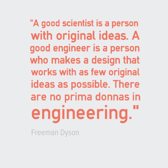 Engineering Quotes Freeman Dyson