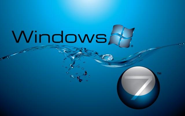 windows 7 in water flow wide